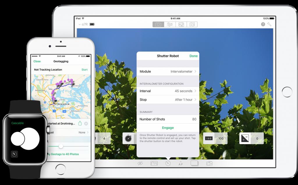 Die Cascable App ist auf iPad, iPhone und AppleWatch verfügbar.