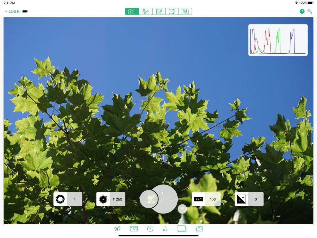Fernbedienung der Kamera auf dem iPad mit Cascable